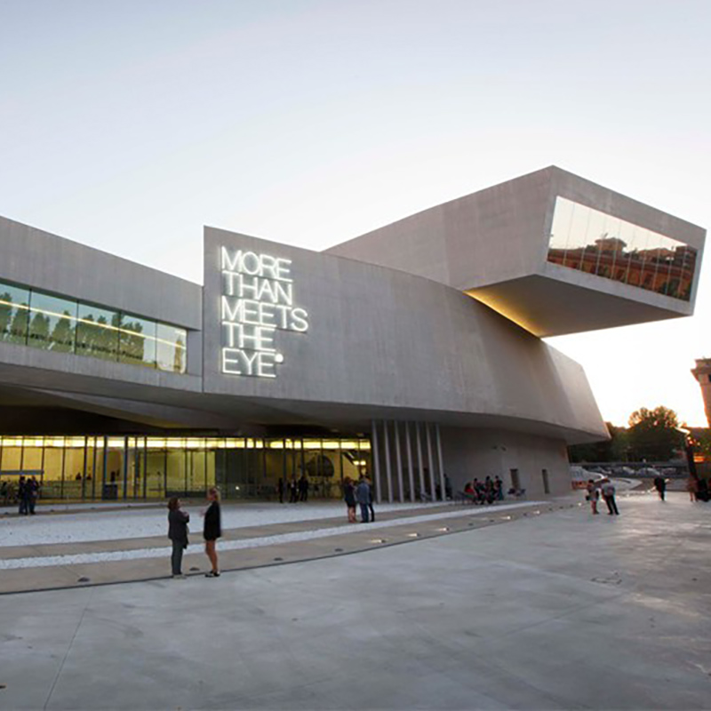 Foto do Mueseu MAxxi em Museu de Arte do Século XXI, projeto da Arquiteta Zaha
